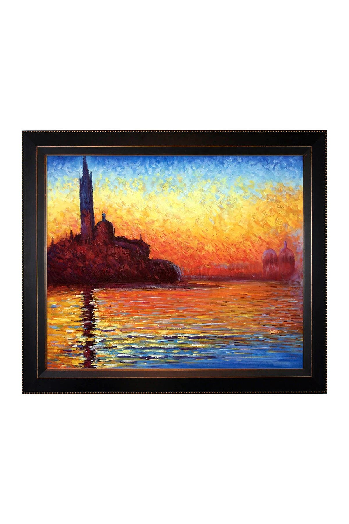 "Image of Overstock Art San Giorgio Maggiore by Twilight with Veine D'Or Bronze Angled Frame , 22"" x 26"""