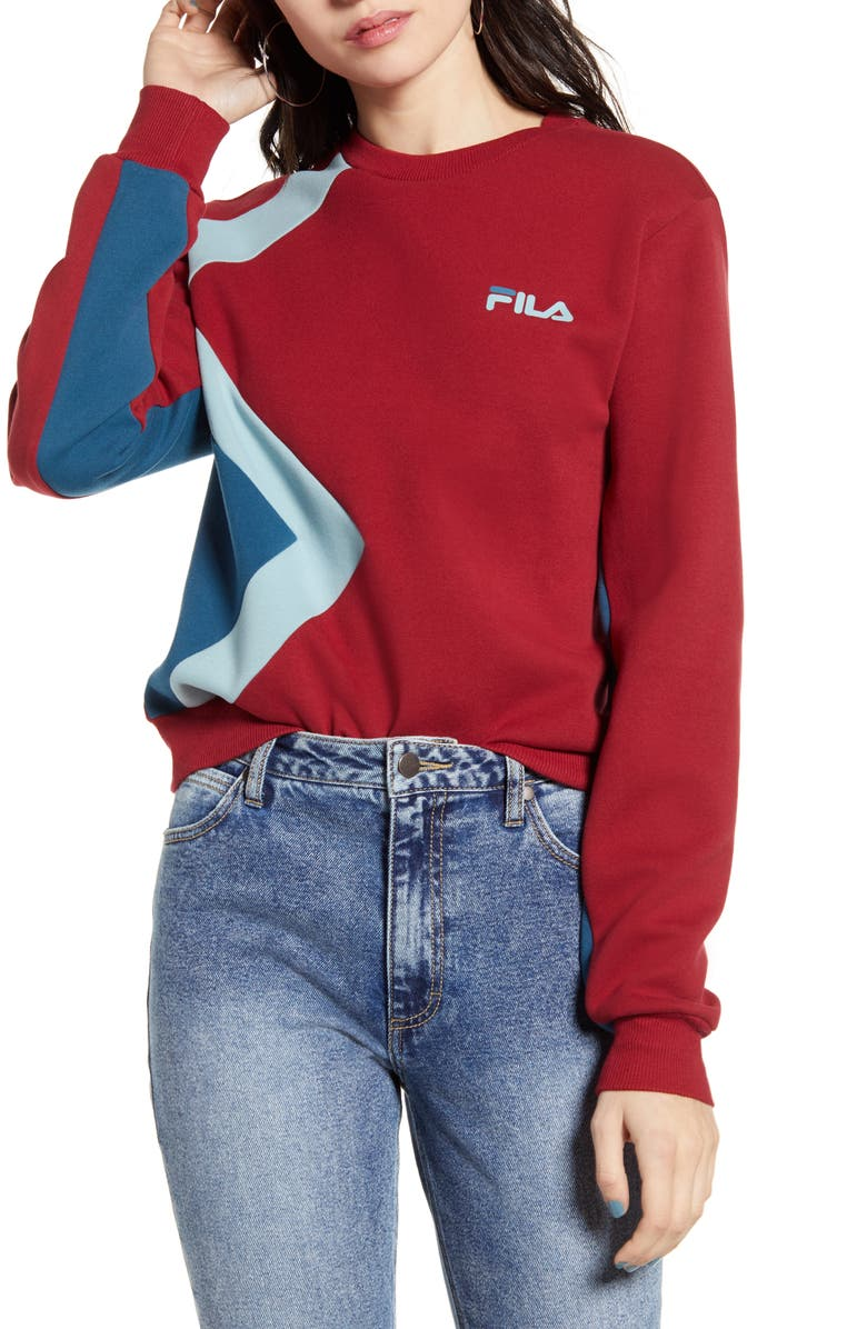 FILA Kazuno Sweatshirt, Main, color, BIKING RED
