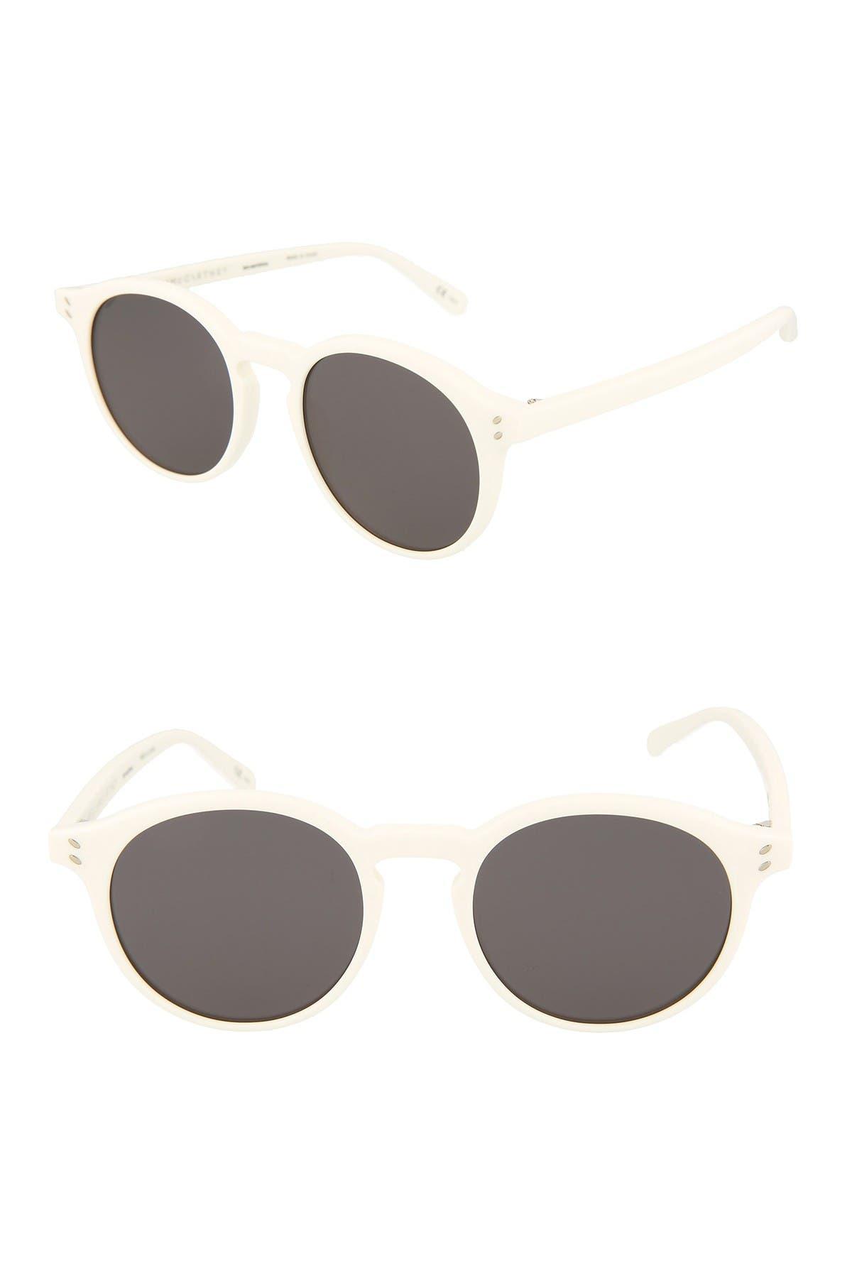 Retro Sunglasses | Vintage Glasses | New Vintage Eyeglasses Stella McCartney 53mm RoundOval Sunglasses Size One Size - White White Smoke at Nordstrom Rack $69.97 AT vintagedancer.com