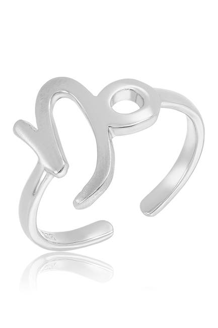 Image of Sterling Forever Sterling Silver Adjustable Zodiac Ring - Capricorn