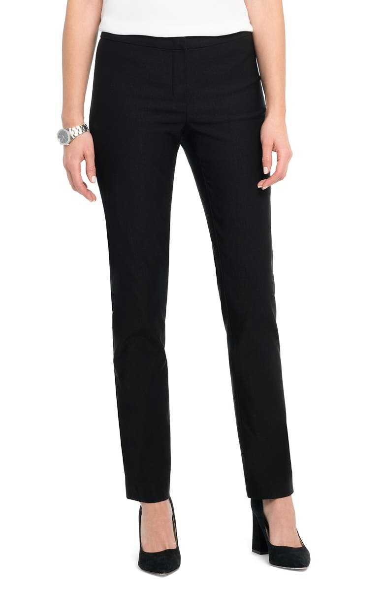 NIC+ZOE Wonderstretch Fly Front Straight Leg Pants, Main, color, 004