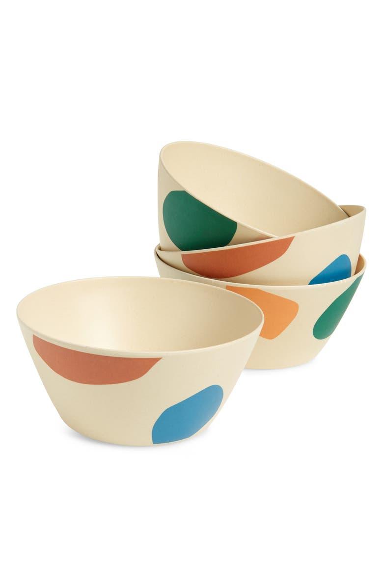 XENIA TALER Set of 4 Small Studio Bowls, Main, color, MULTI
