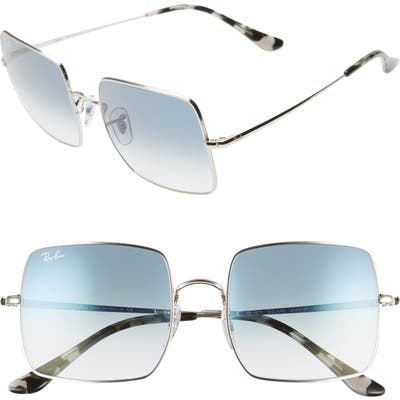 Ray-Ban 5m Square Sunglasses - Silver/ Blue Gradient