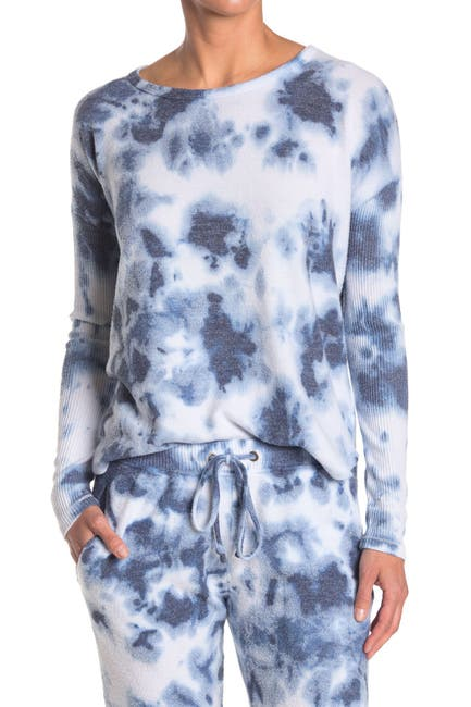 Image of Theo and Spence Tie Dye Print Swing Pullover