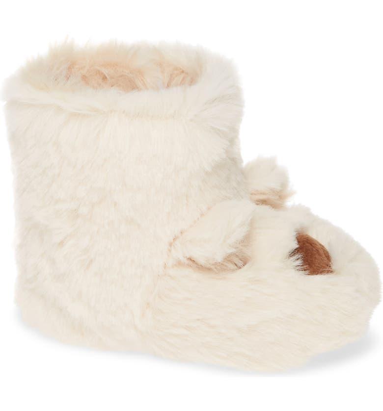 JOULES Petapata Faux Fur Bootie, Main, color, BEAR
