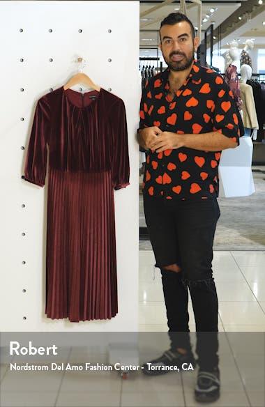 Velvet Fit & Flare Dress, sales video thumbnail