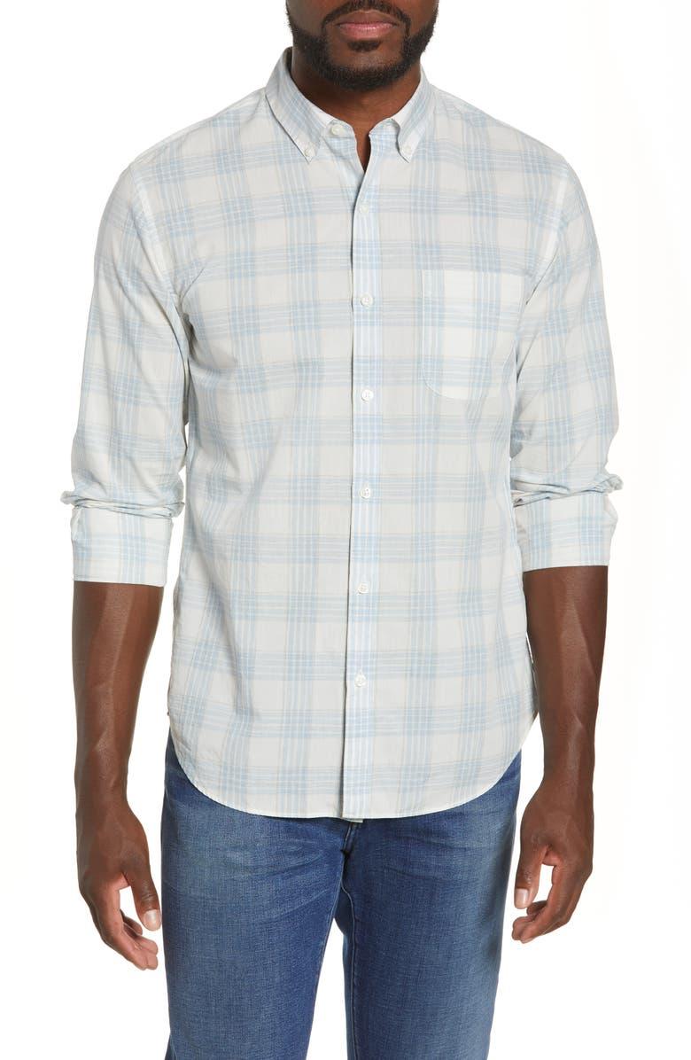 BONOBOS Slim Fit Plaid Button-Down Shirt, Main, color, 100