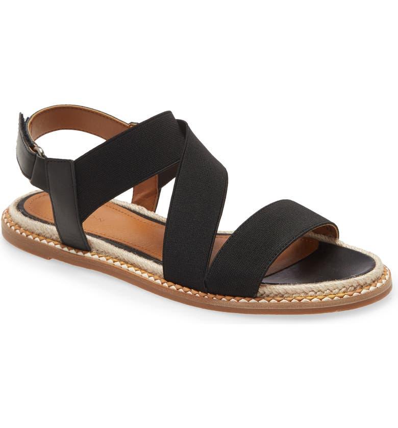 CASLON<SUP>®</SUP> Dalila Elastic Sandal, Main, color, BLACK ELASTIC FABRIC