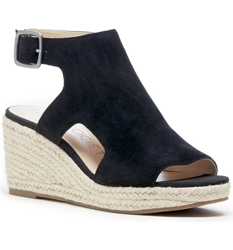 SOLE SOCIETY Camreigh Espadrille Wedge, Main, color, 001