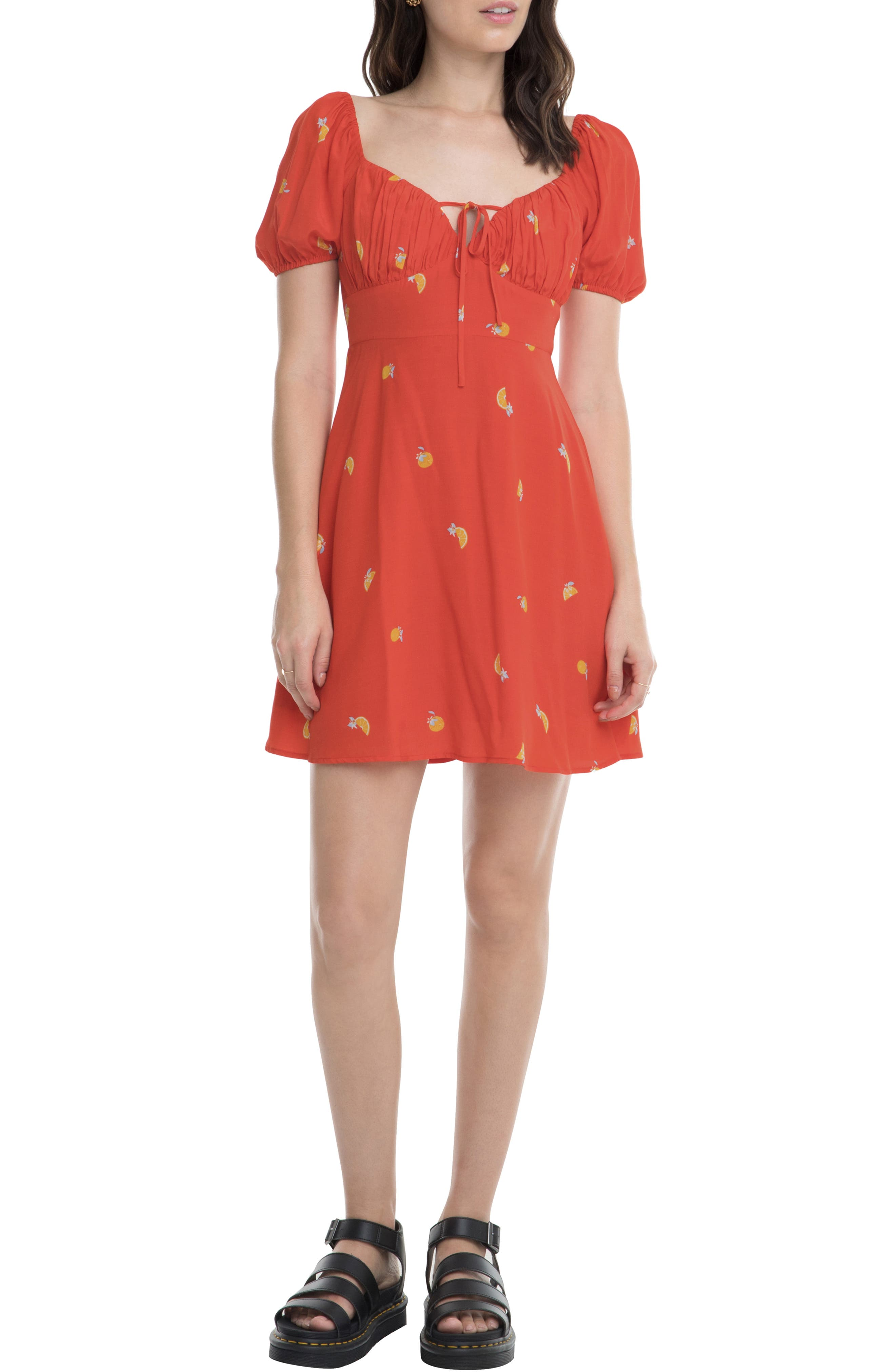 Astr The Label Nancy Minidress, Orange