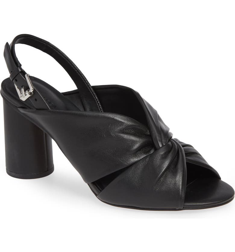 REBECCA MINKOFF Agata Slingback Sandal, Main, color, BLACK LEATHER