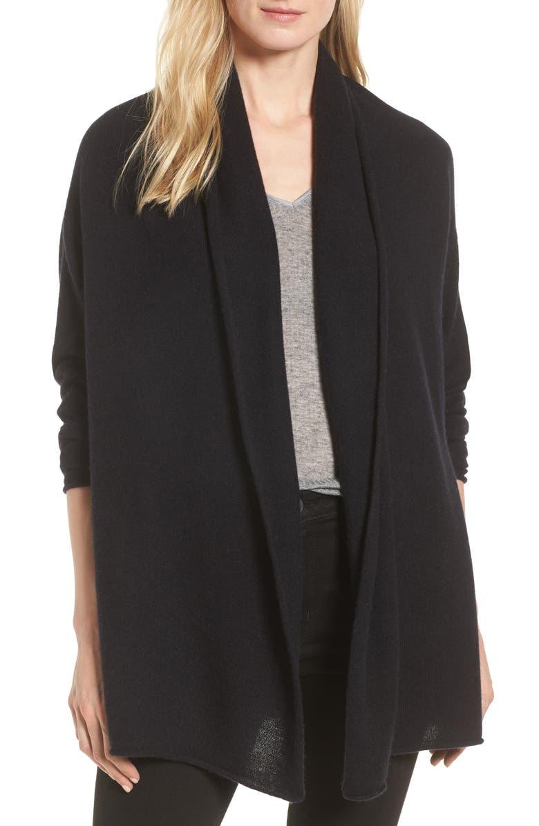 HALOGEN<SUP>®</SUP> Shawl Collar Cashmere Cardigan, Main, color, 001