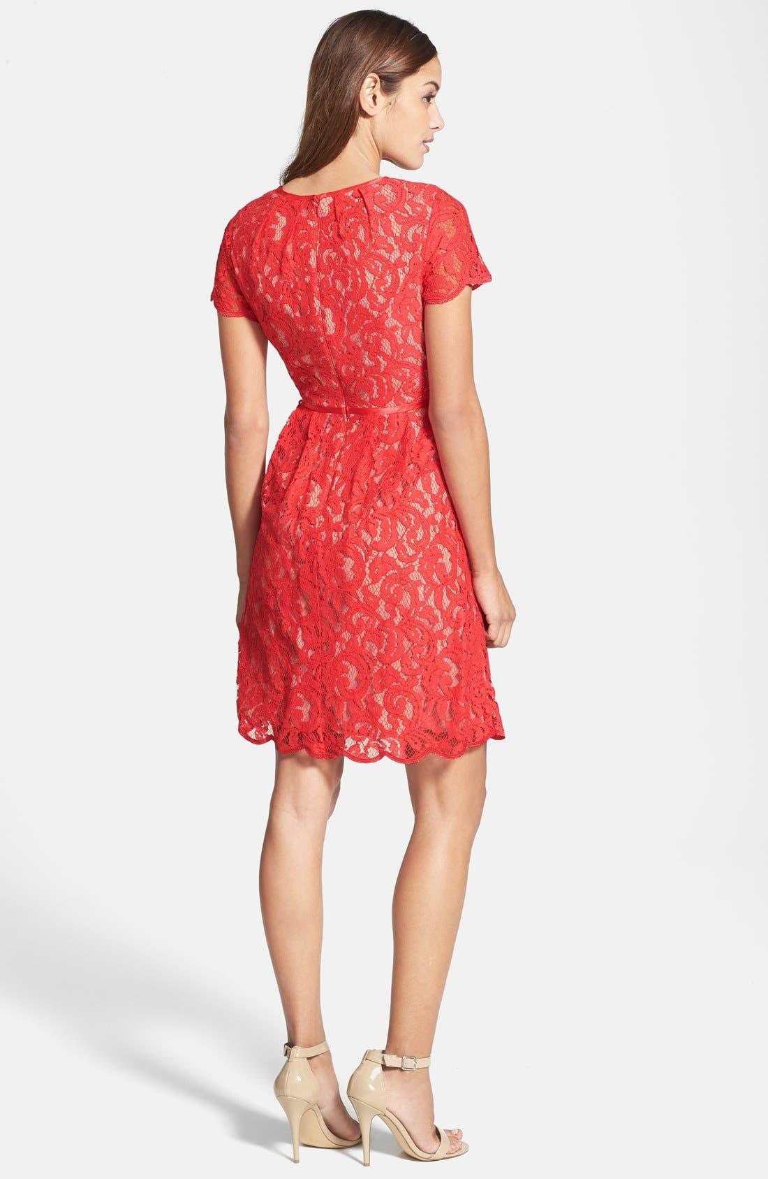 ,                             Scalloped Lace Dress,                             Alternate thumbnail 16, color,                             600