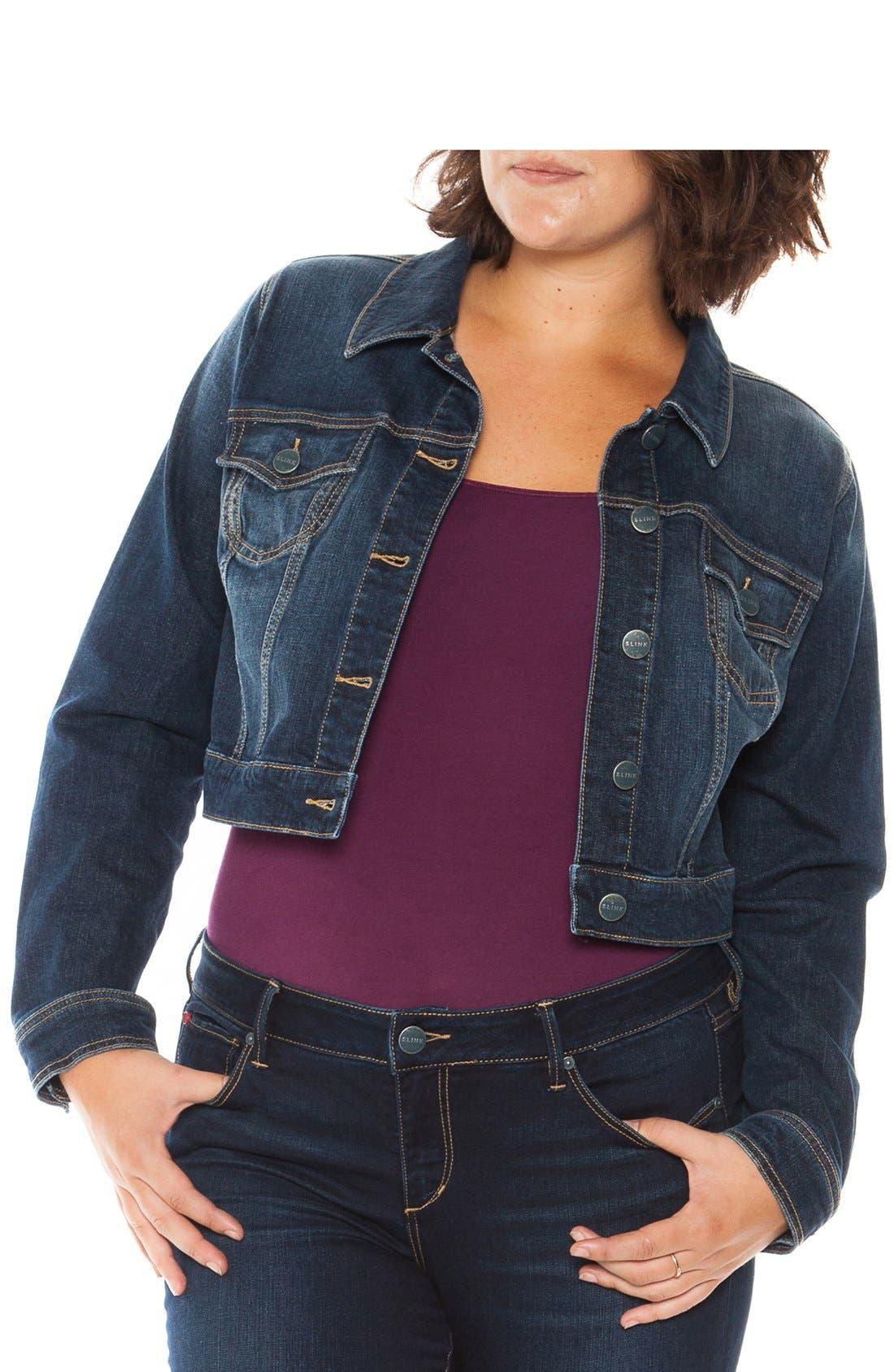 Image of SLINK JEANS Crop Denim Jacket