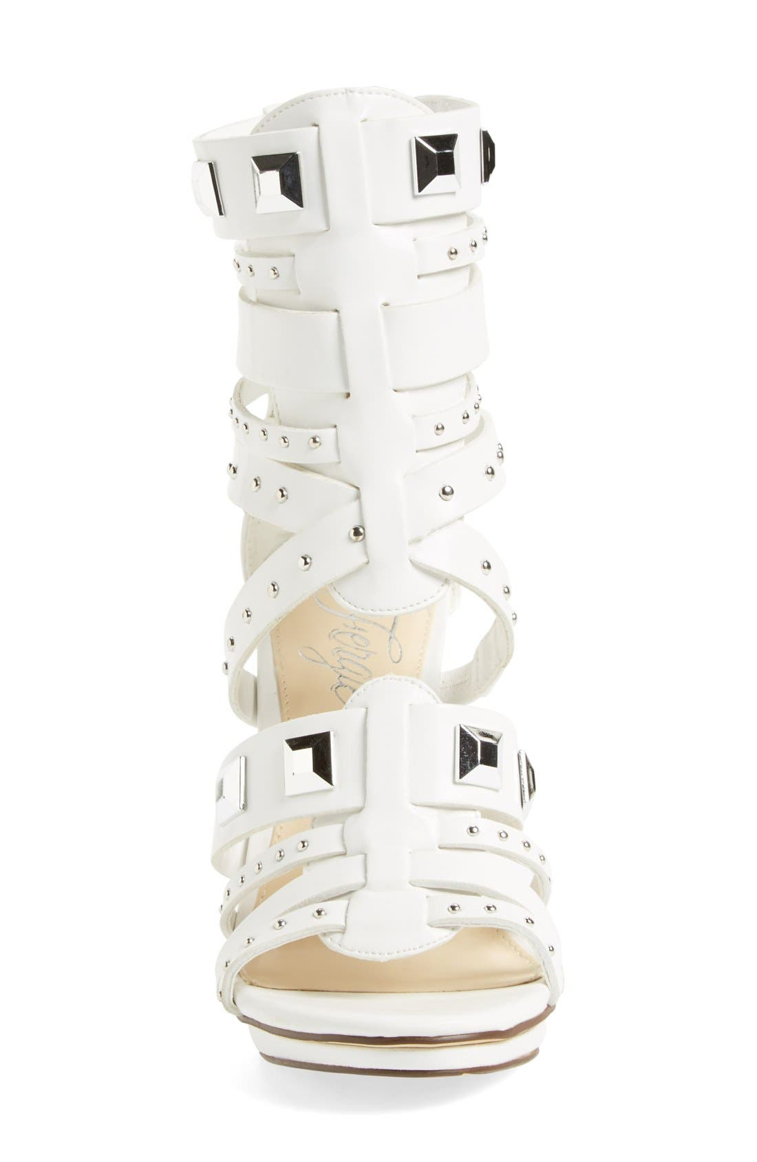 ,                             'Bonnie' Studded Strappy Sandal,                             Alternate thumbnail 6, color,                             100