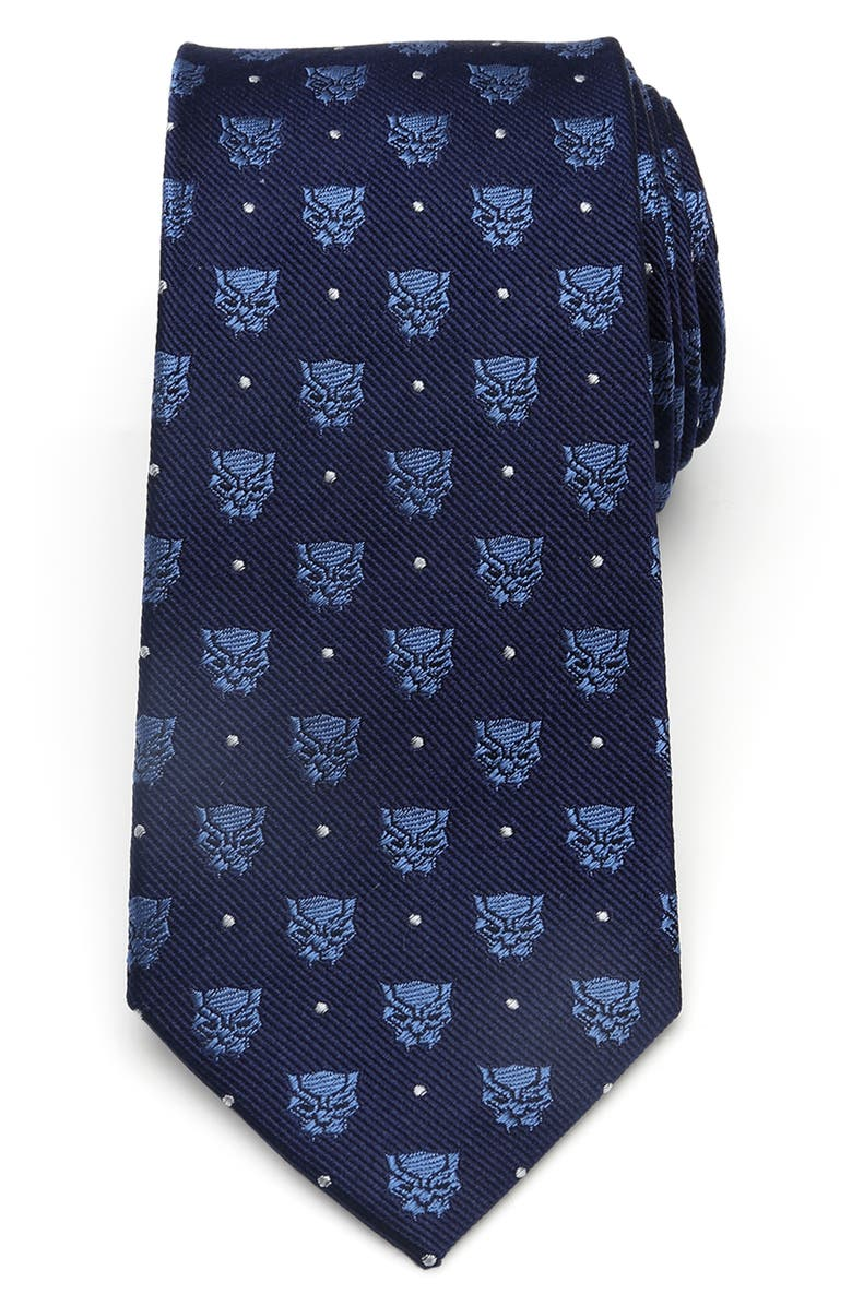 CUFFLINKS, INC. Black Panther Silk Tie, Main, color, BLUE