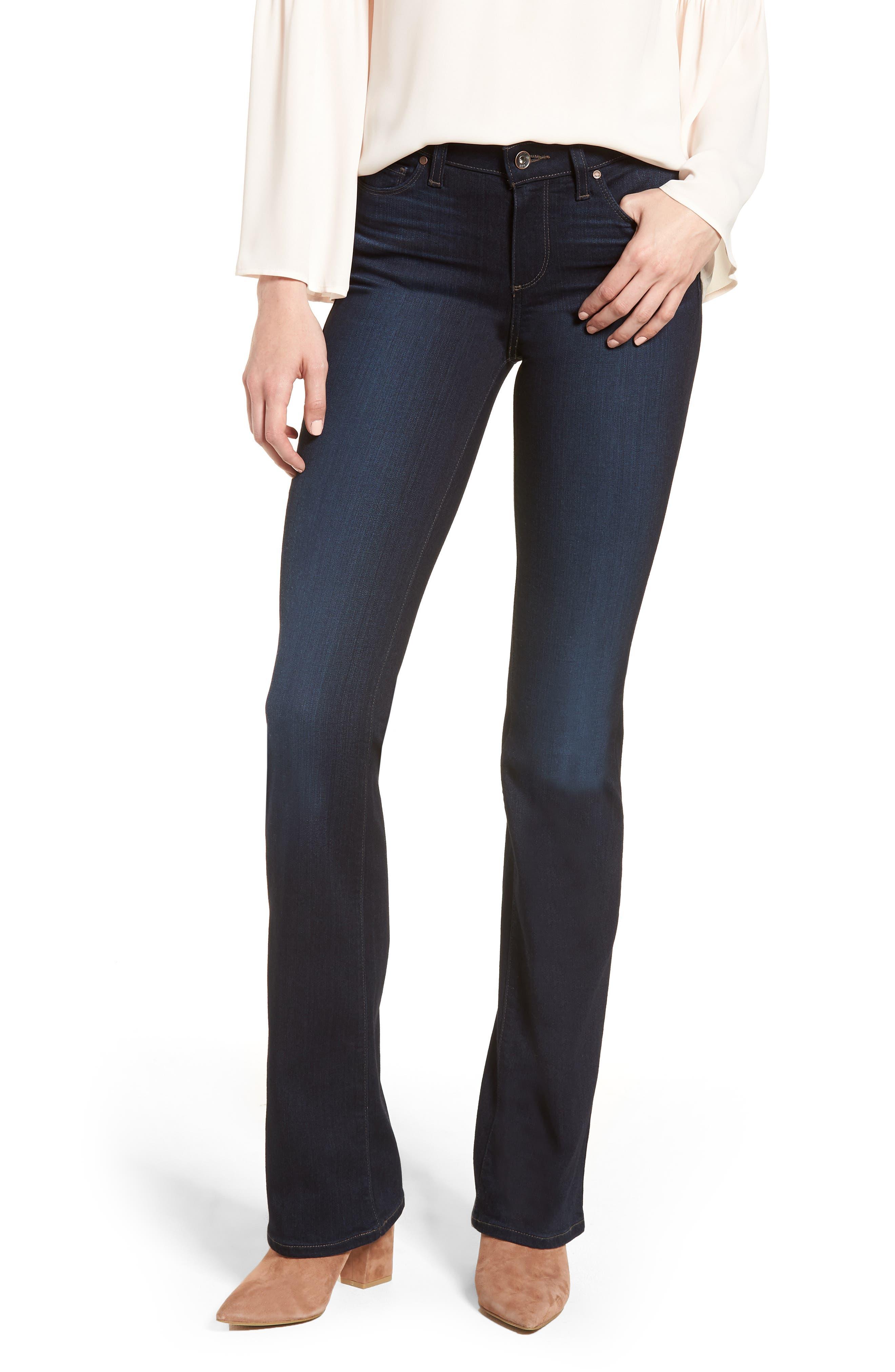 PAIGE Transcend - Manhattan Bootcut Jeans (Renna)