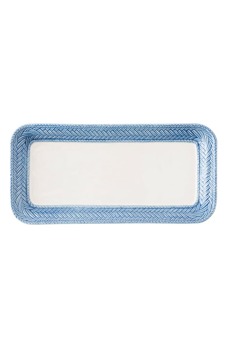 JULISKA Le Panier Stoneware Hostess Tray, Main, color, WHITEWASH/ DELFT BLUE