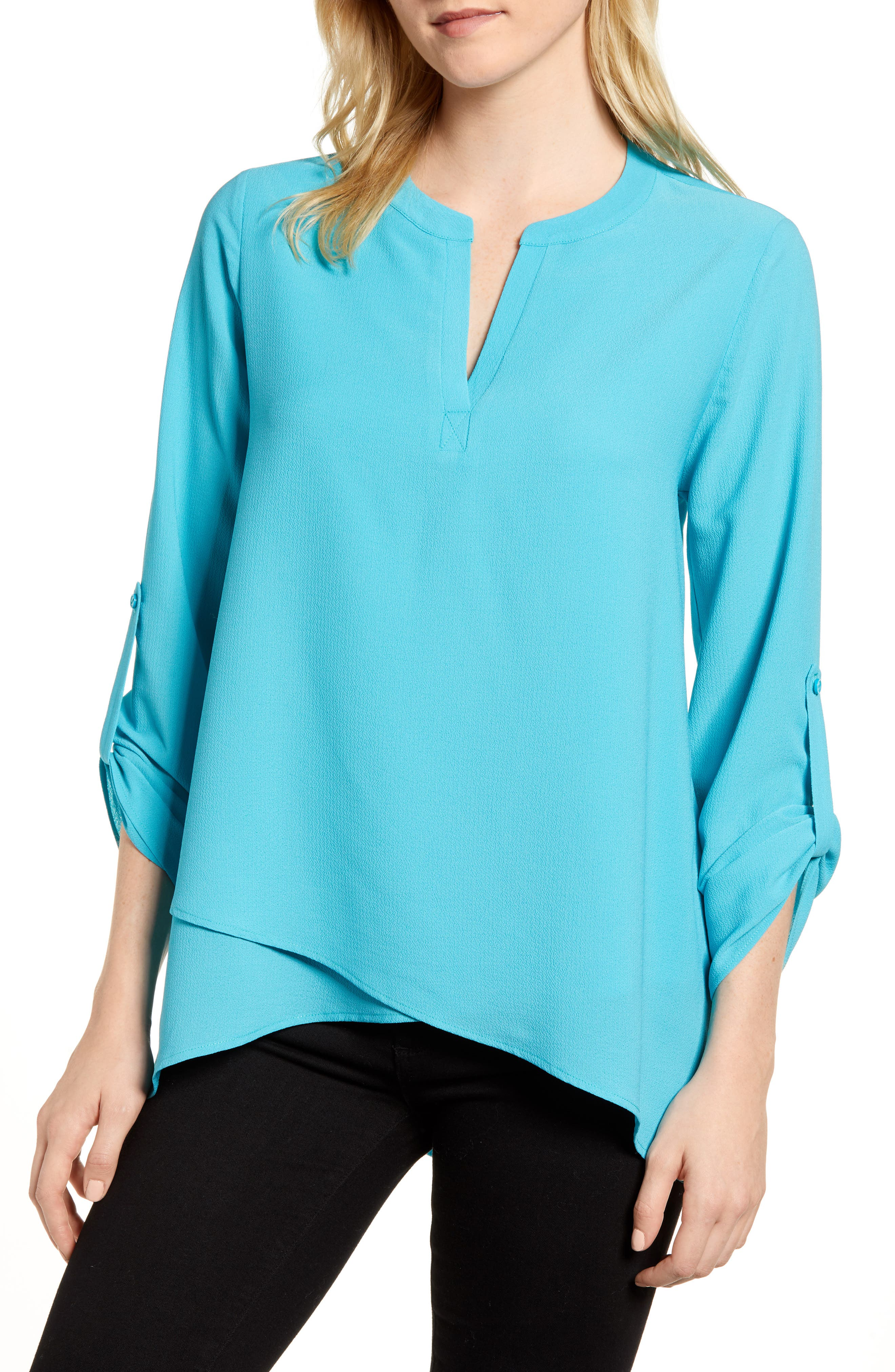 ,                             x International Women's Day Erin Cross Front Tunic Blouse,                             Main thumbnail 40, color,                             443