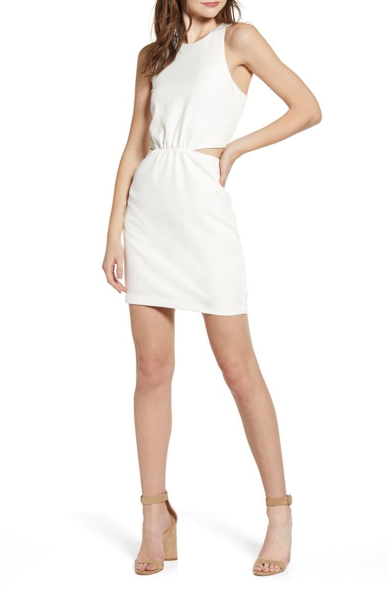 BISHOP + YOUNG Desert Zen Side Cutout Minidress, Main, color, WHITE