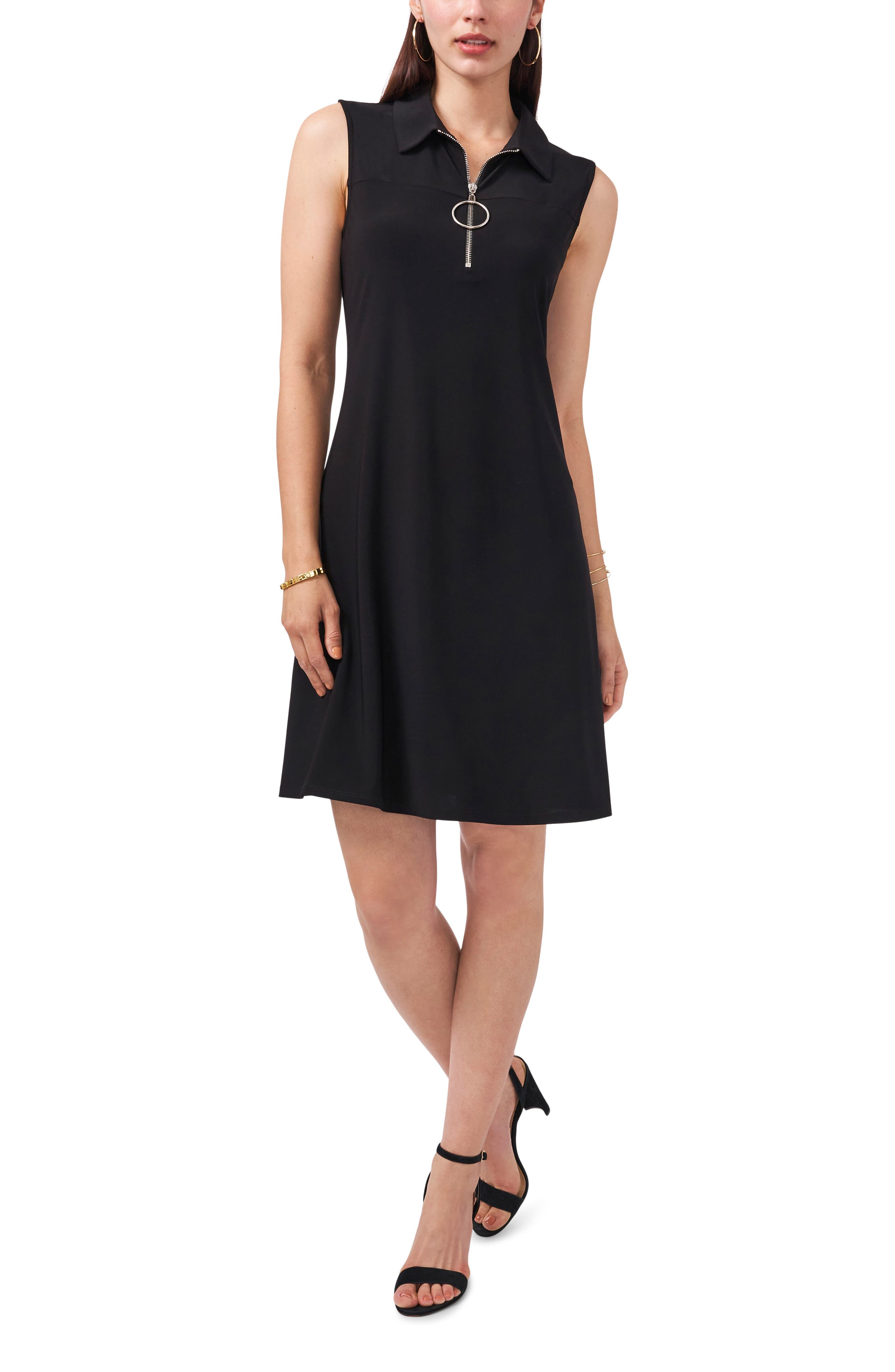 Sleeveless Quarter Zip Dress