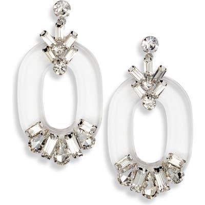 Cristabelle Multi Stone Oval Hoop Earrings