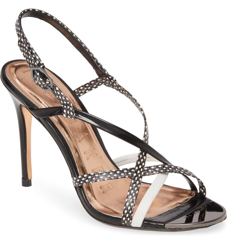 TED BAKER LONDON Theanna Sandal, Main, color, BLACK LEATHER