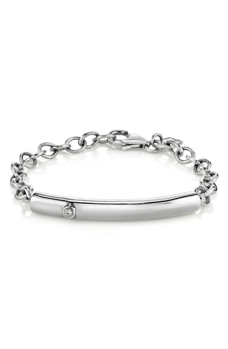 SHERYL LOWE Bezel Diamond Bar Bracelet, Main, color, DIAMOND