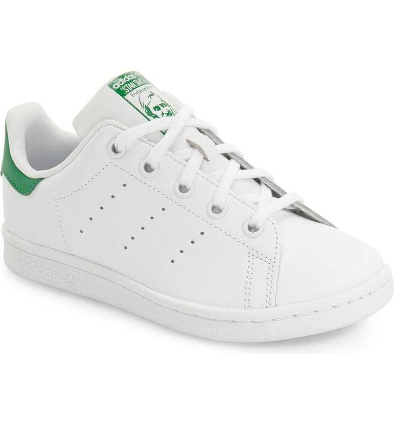 ADIDAS Stan Smith Foundation Sneaker, Main, color, WHITE/ GREEN