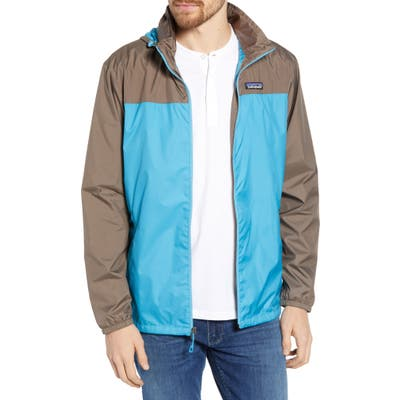 Patagonia Light & Variable(TM) Recycled Wind & Water Resistant Hooded Jacket, Blue