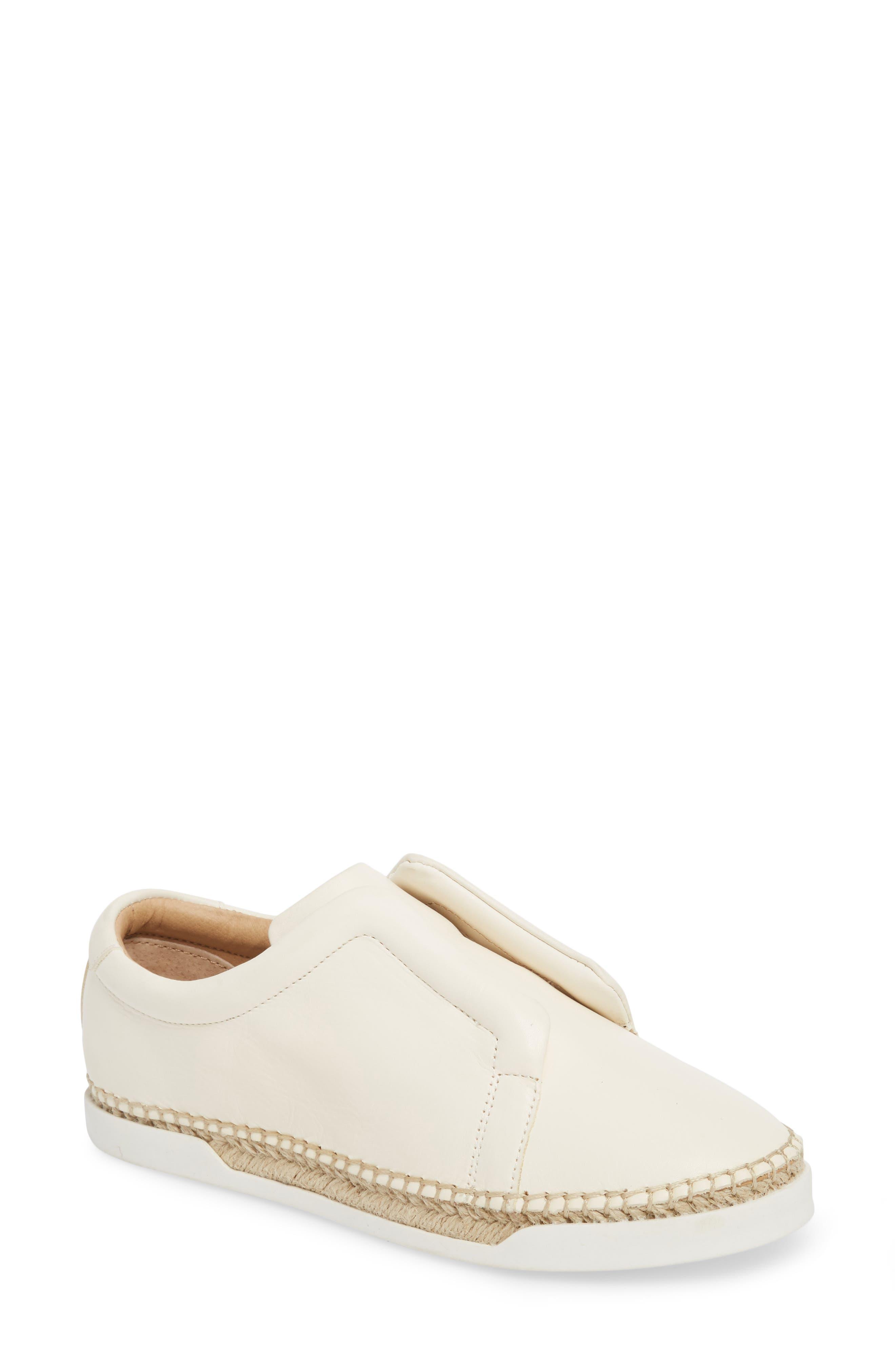 M4D3 Elizabeth Espadrille Slip-On Sneaker- White