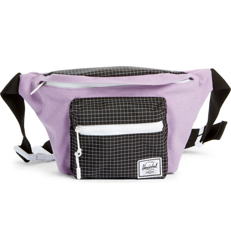 HERSCHEL SUPPLY CO. Seventeen Belt Bag, Main, color, REGAL ORCHID/ BLACK