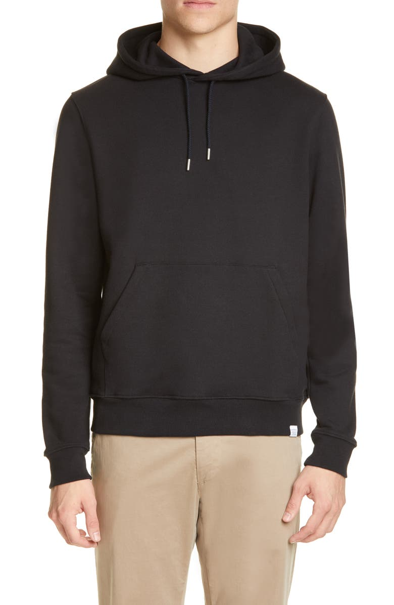 NORSE PROJECTS Vagn Classic Hoodie, Main, color, BLACK