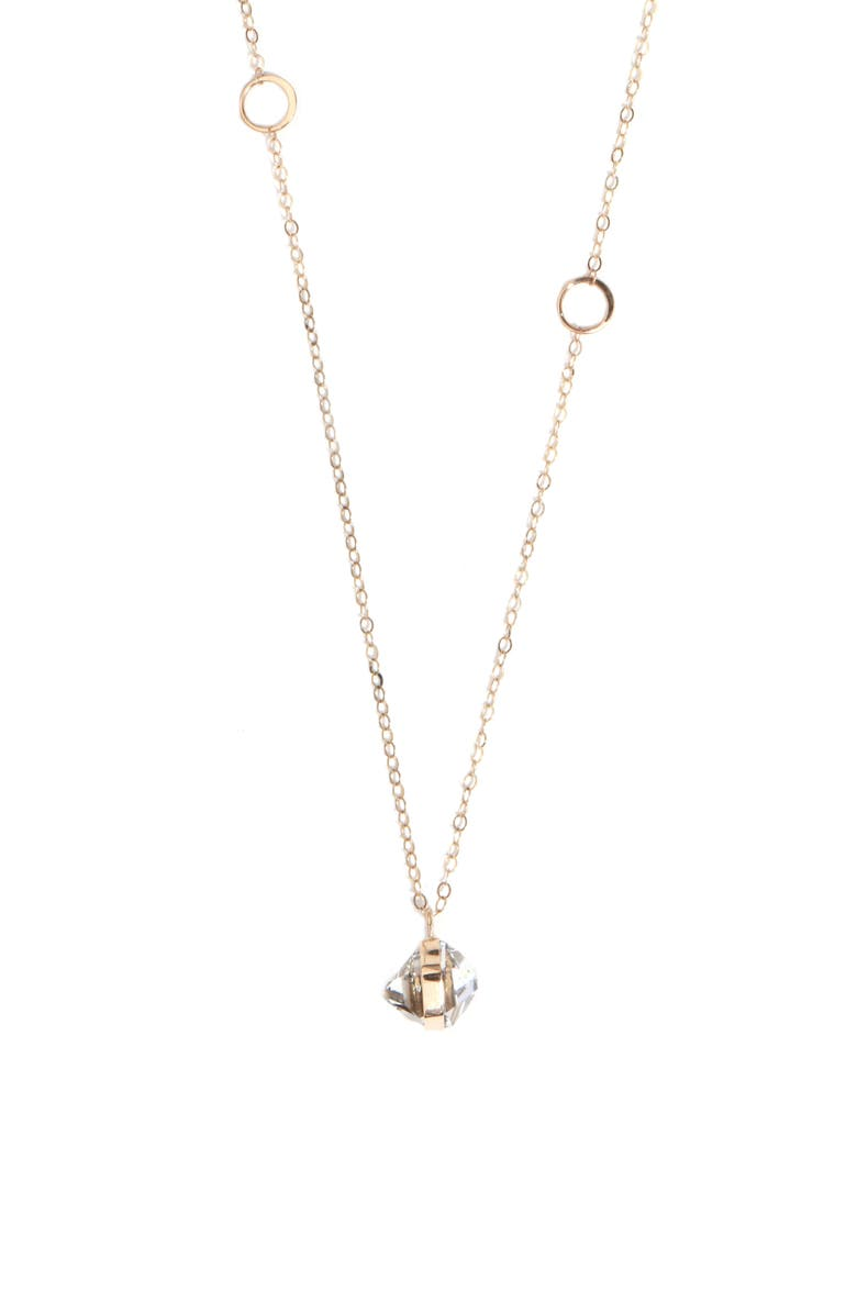 MELISSA JOY MANNING Herkimer Pendant Necklace, Main, color, YELLOW GOLD