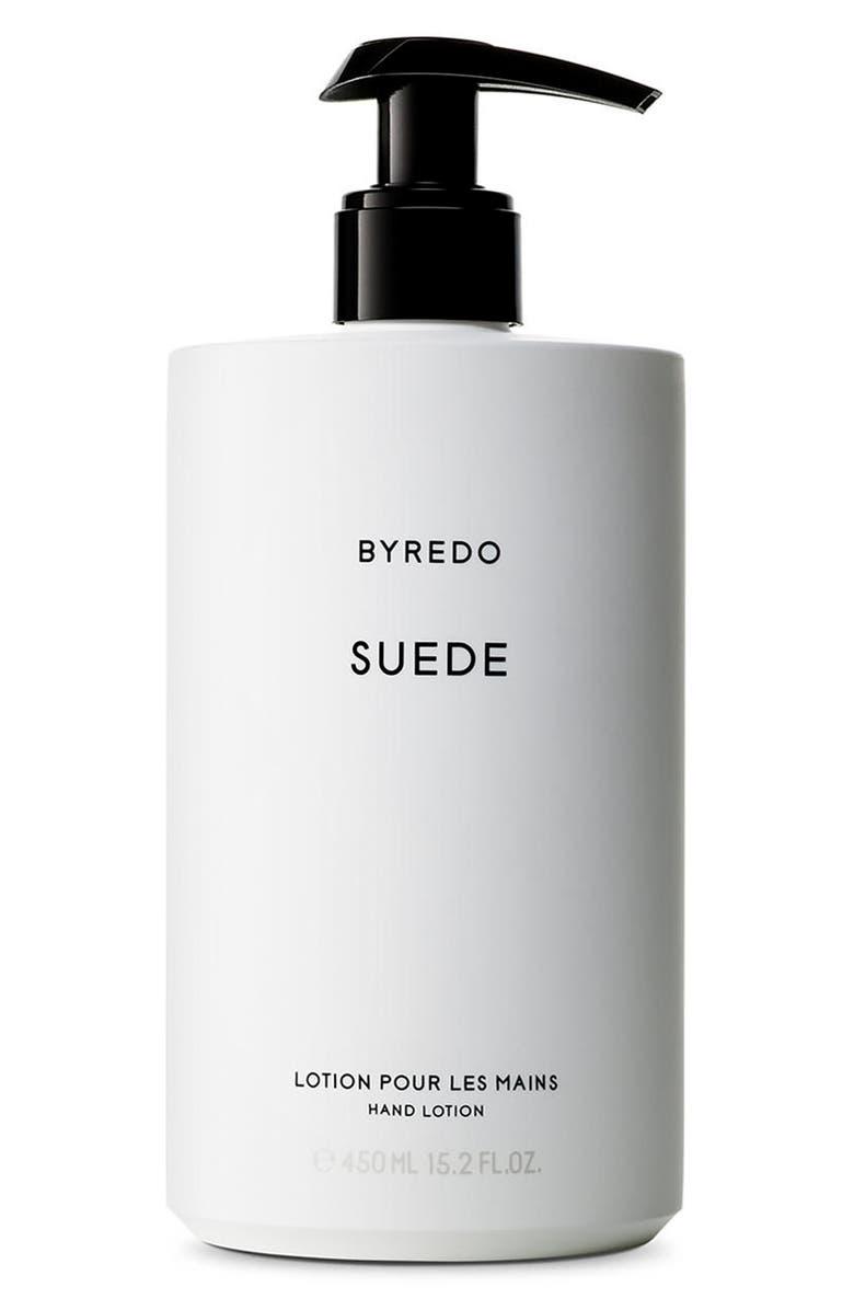 BYREDO Suede Hand Lotion, Main, color, NO COLOR