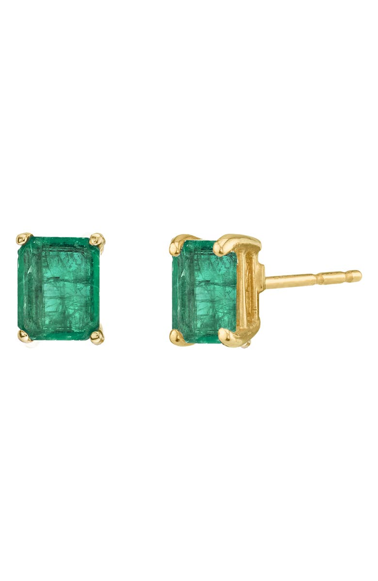 SHAY Colombian Emerald Stud Earrings, Main, color, 300