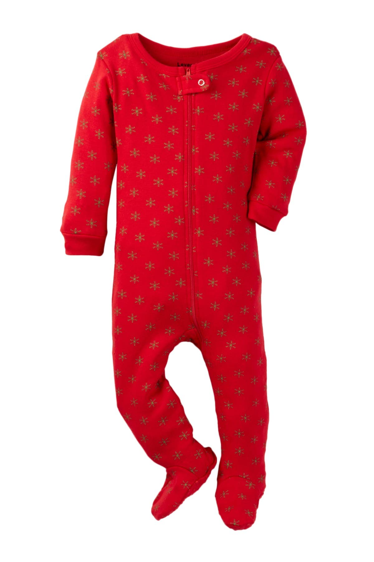 Image of Leveret Snowflake Print Footed Pajama