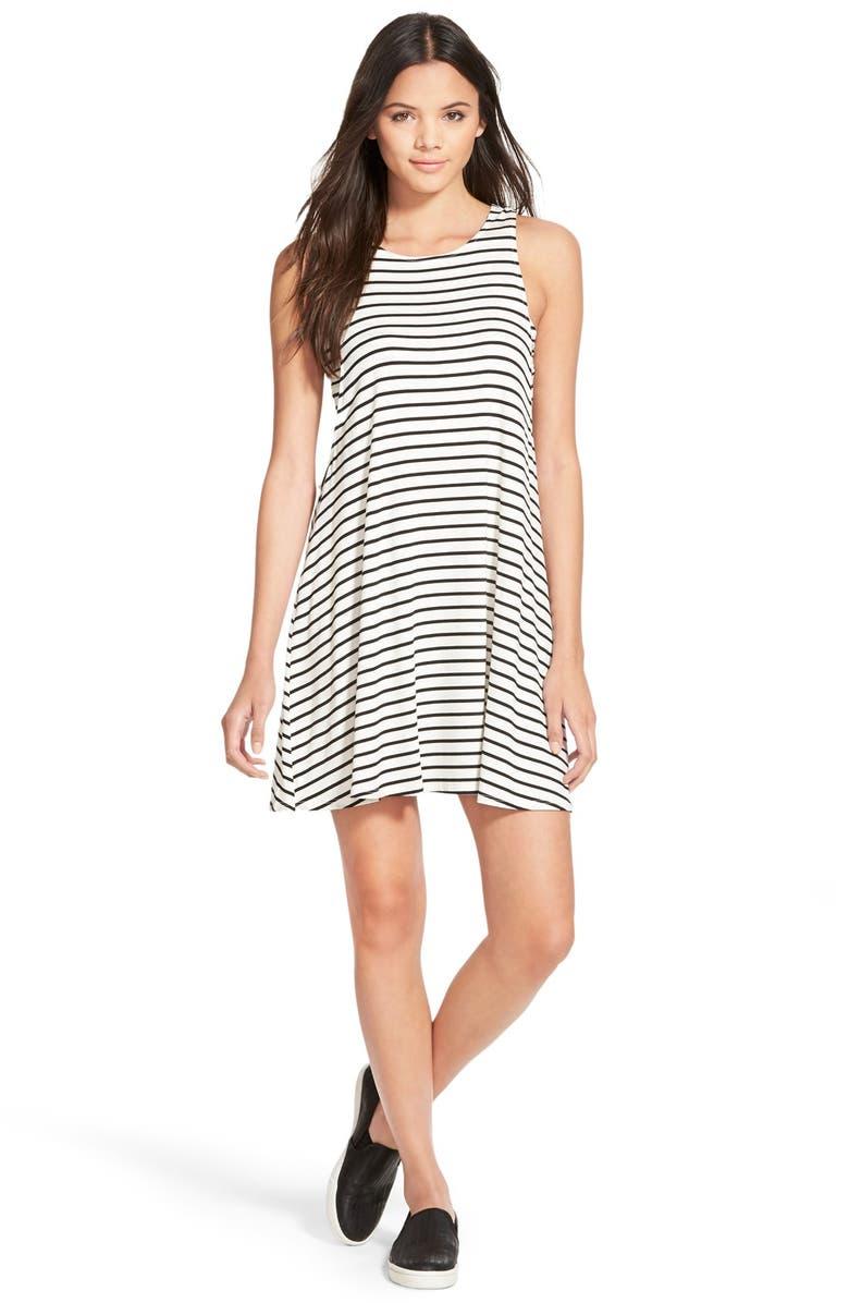 SOCIALITE Stripe Swing Dress, Main, color, 900