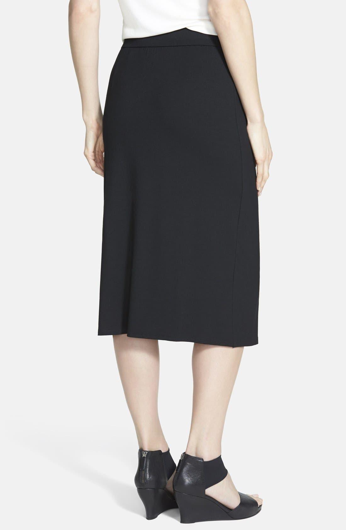 ,                             Faux Wrap Jersey Skirt,                             Alternate thumbnail 3, color,                             001