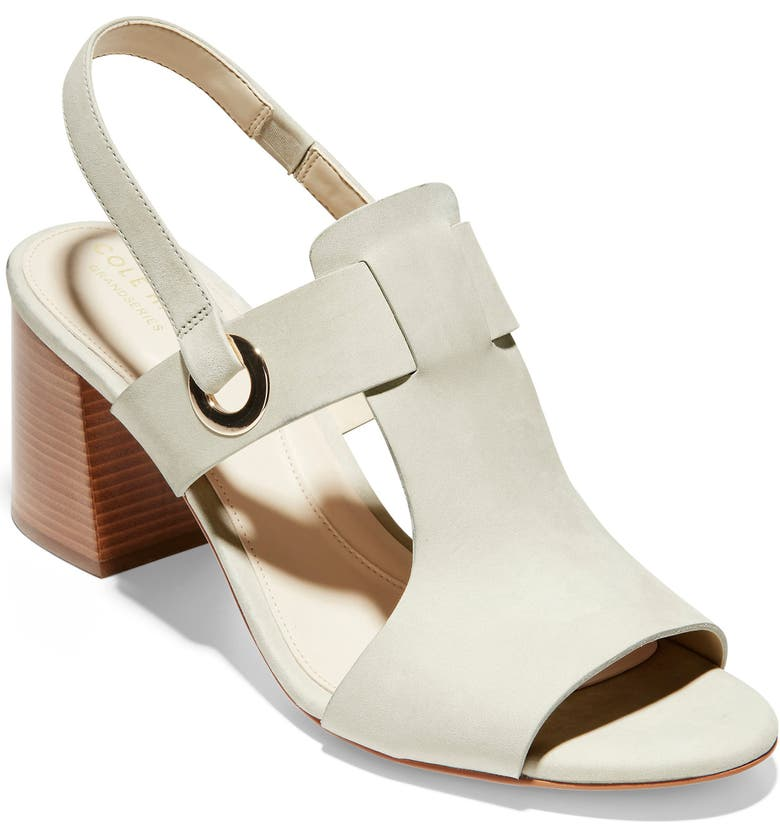 COLE HAAN Grand Ambition Adele Slingback Sandal, Main, color, PUMICE STONE LEATHER