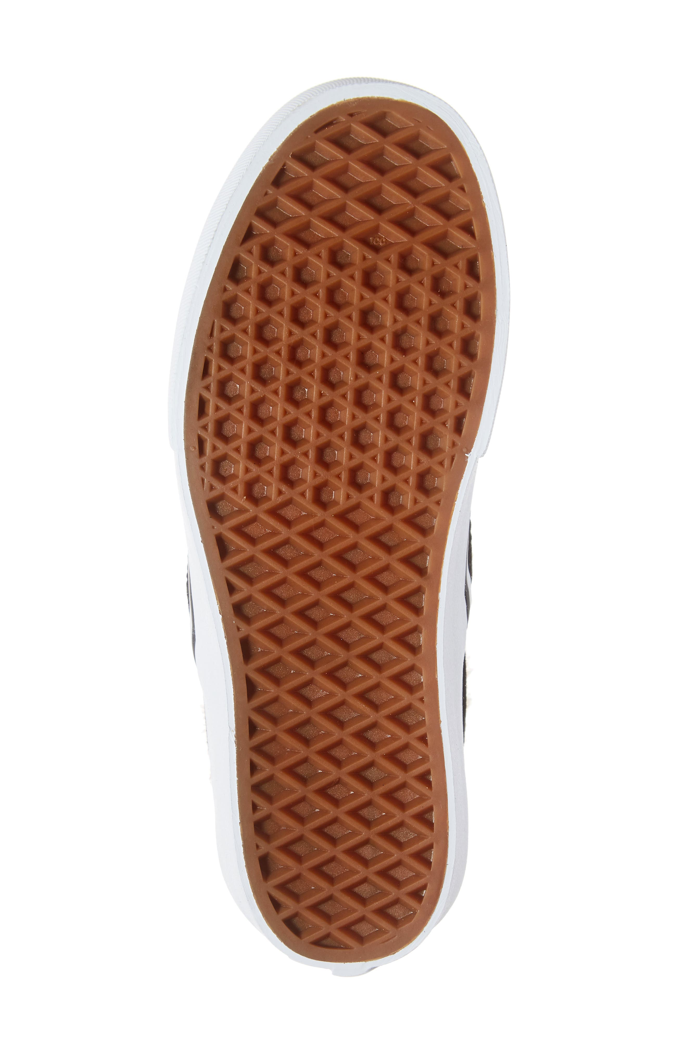 ,                             Classic Faux Fur Slip-On Platform Sneaker,                             Alternate thumbnail 6, color,                             001