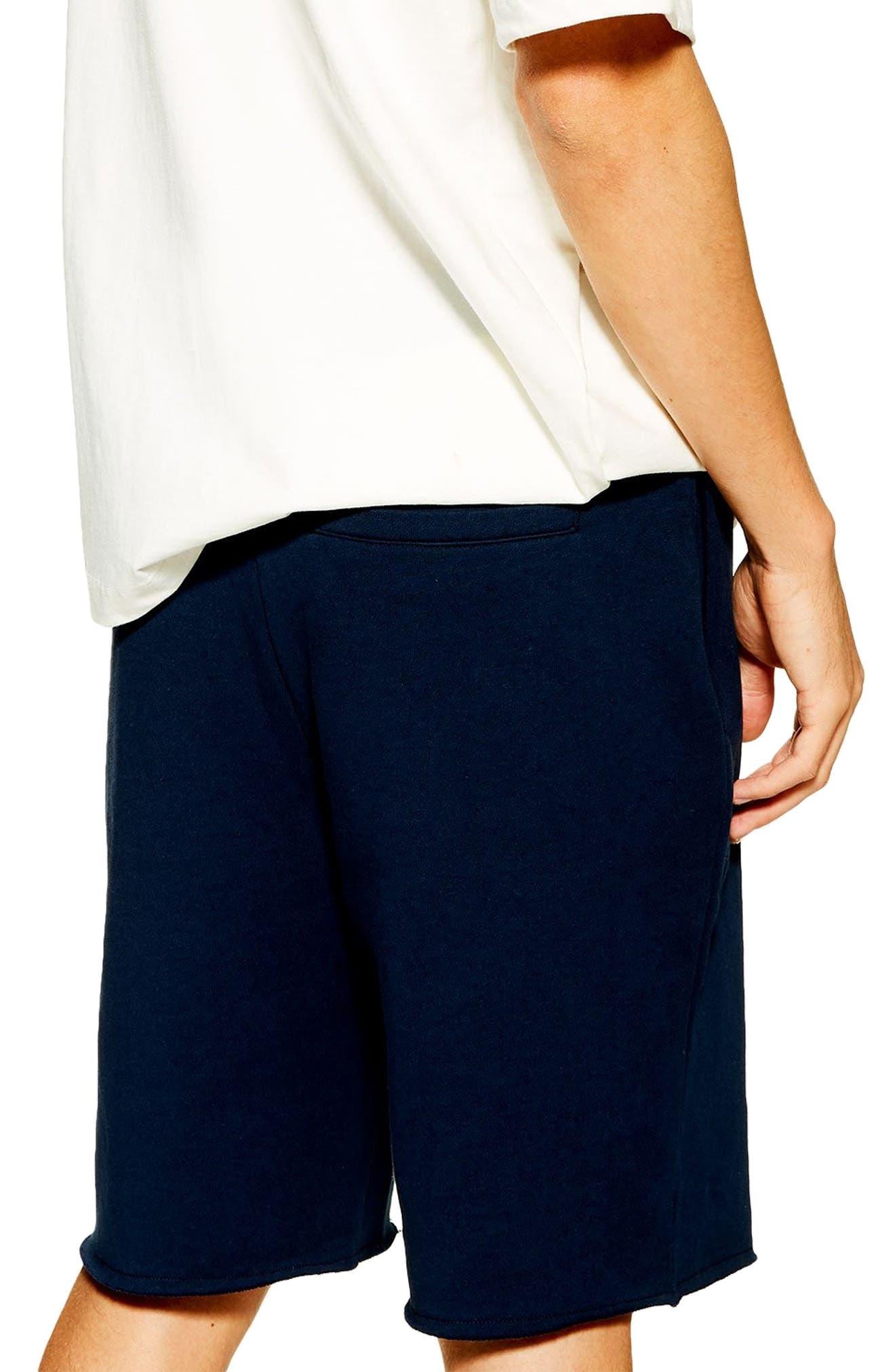 ,                             Jersey Sweat Shorts,                             Alternate thumbnail 2, color,                             NAVY BLUE
