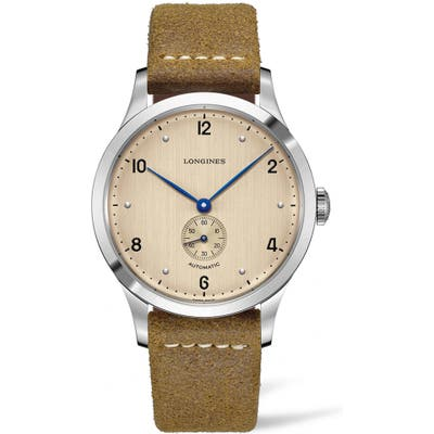 Longines Heritage 1945 Leather Strap Watch, 40mm