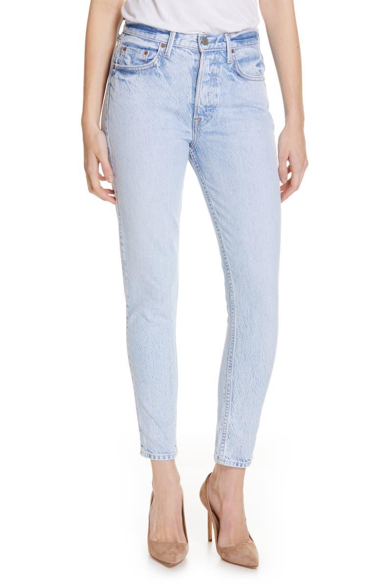 GRLFRND Karolina High Waist Skinny Jeans, Main, color, NEVER AGAIN