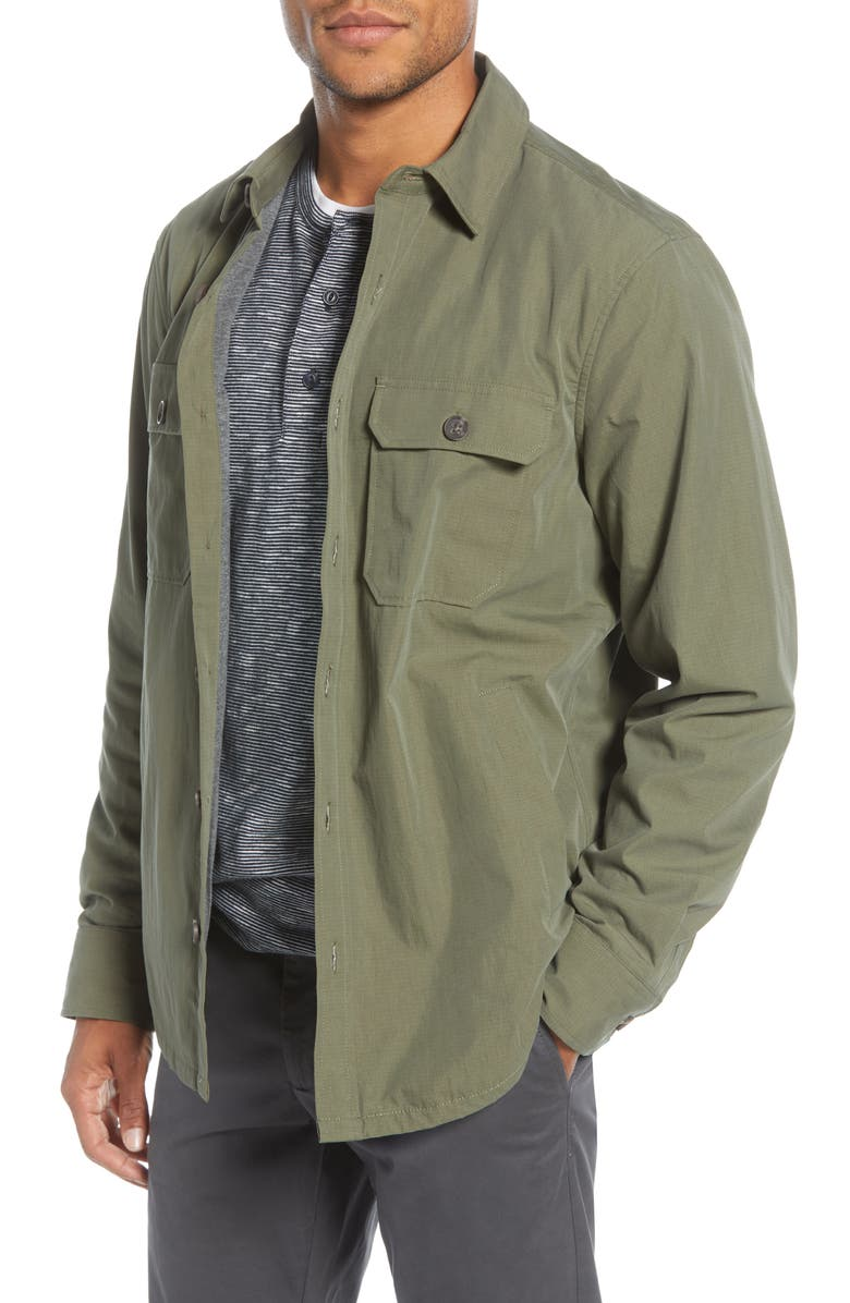 1901 Ripstop Shirt Jacket, Main, color, OLIVE GROVE