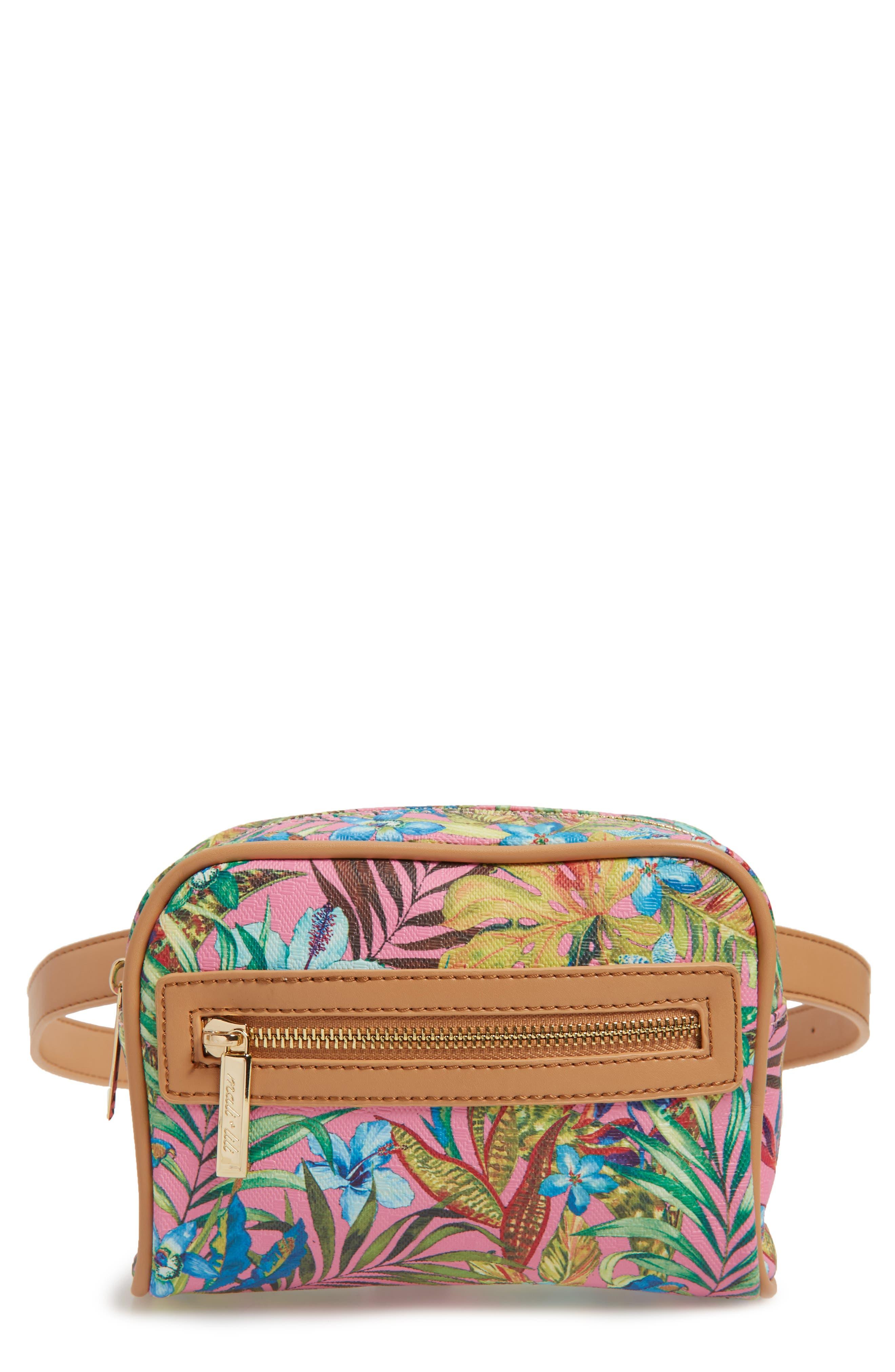 Mali + Lili Lacey Floral Convertible Vegan Leather Belt Bag