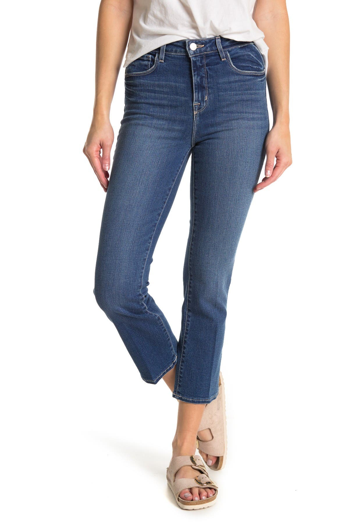 Image of L'AGENCE Nadia Cropped Straight Leg Jeans