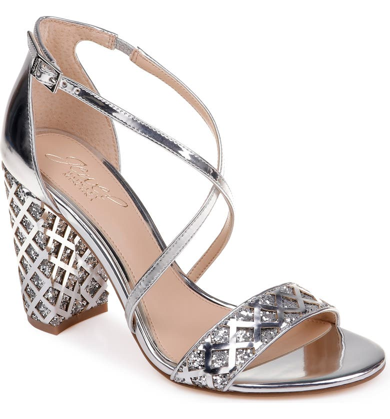 JEWEL BADGLEY MISCHKA Kathy Sandal, Main, color, SILVER FAUX LEATHER