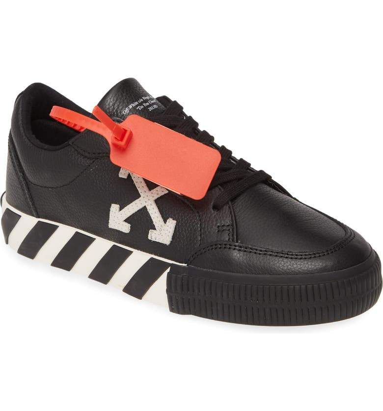 OFF-WHITE Low Arrow Sneaker, Main, color, BLACK WHITE
