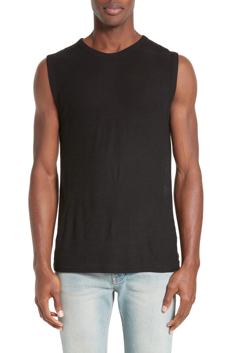 ALEXANDERWANG.T T by Alexander Wang Muscle T-Shirt, Main, color, 001